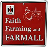 """S&D International Harvester Faith, Farming and Farmall Metal Sign, 12 by 12"""""""