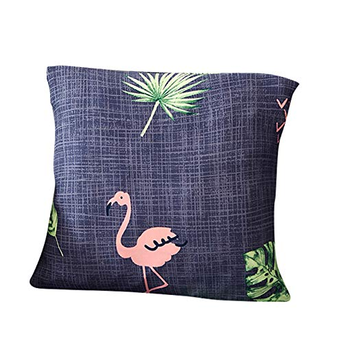 Funda para sofá elástica, antideslizante, estampado de plumas y flores moderno y simple, de 1/2/3/4 plazas, protector para mascotas, Flamingo, 1pcs ...
