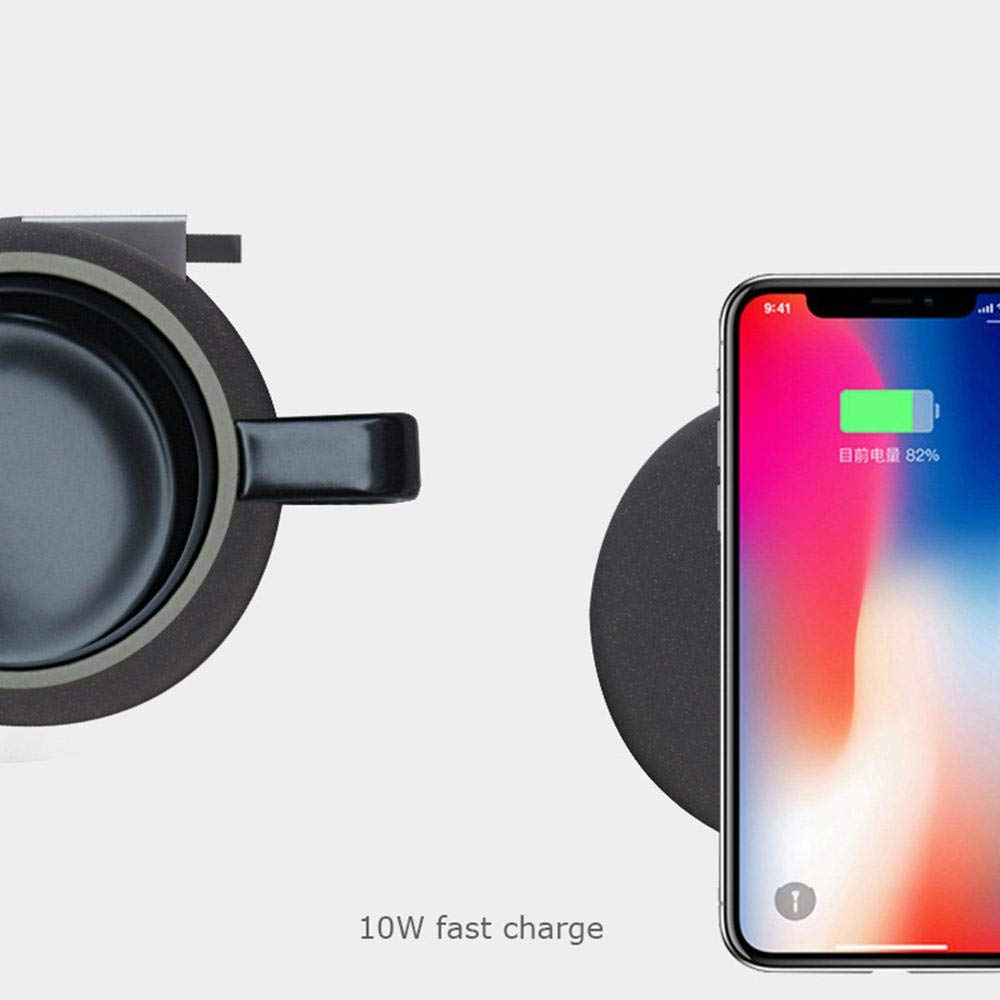 AUOKER Coffee Mug Warmer Wireless Charger, USB Mug Warmer Auto Shut Off with Automatic Thermostatic Smart Warmer for Mobile Phone Wireless Charger - Made in China's Porcelain Capital - Jingdezhen by AUOKER (Image #5)