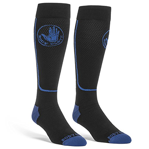 Body Glove Sport Compression Knit Socks Increase Circulation Reduce Swelling (Medium, Blue)