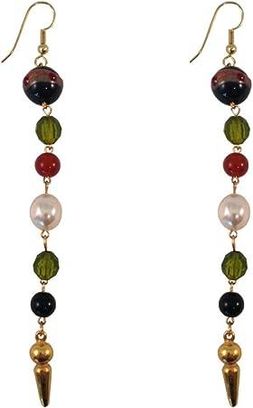 Dangle Beaded Earrings, Dangling One String Earrings, Summer Theme Earrings