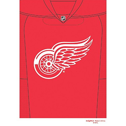 Sports and Tailgating NHL Party Detroit Red Wings Loot Bag Favours, Plastic, 9