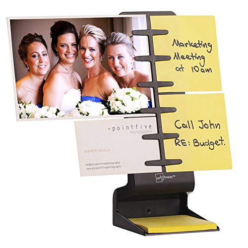 NoteTower Desktop Mini (Black) - Organizes and Displays Sticky Notes, Photos & General Notes