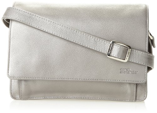 Derek Alexander Ew Three-Quarter Flap Organizer, Silver, One ()