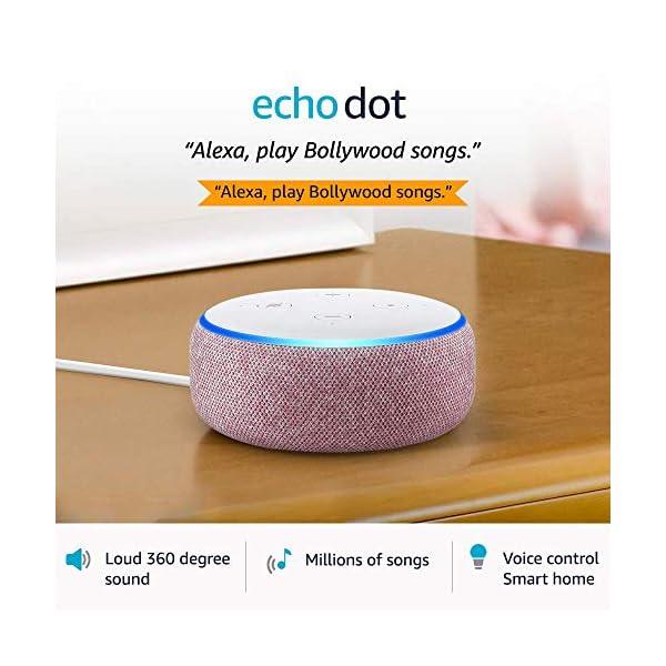 51SXWD9iP7L Echo Dot (3rd Gen) – Smart speaker with Alexa (Purple)