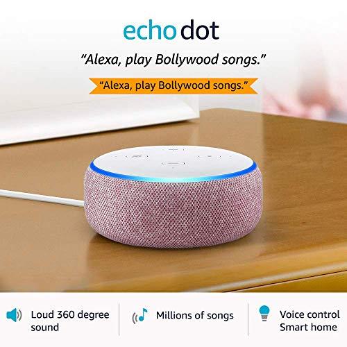 Echo Dot (3rd Gen) – #1 smart speaker brand in India with Alexa (Purple)