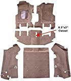 1996 to 2002 Jeep Wrangler Carpet Custom Molded Replacement Kit, Complete Kit, With Short Console (820-Saddle Plush Cut Pile)