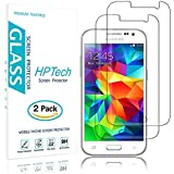 HPTech Galaxy Core Prime G360 Screen Protector - (2-Pack) Tempered Glass for Samsung Galaxy Core Prime G360 Screen Protector Bubble Free with Lifetime Replacement Warranty