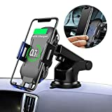 MountDog Wireless Car Charger Mount, Auto-Clamping 7.5W / 10W Fast Cell Phone Charger Holder Compatible with iPhone 8/8 Plus/Xs/Xs Max/XR/X,Galaxy S8 / S9 / S9+ / S10 / S10 Plus/Note 9/8/7 More