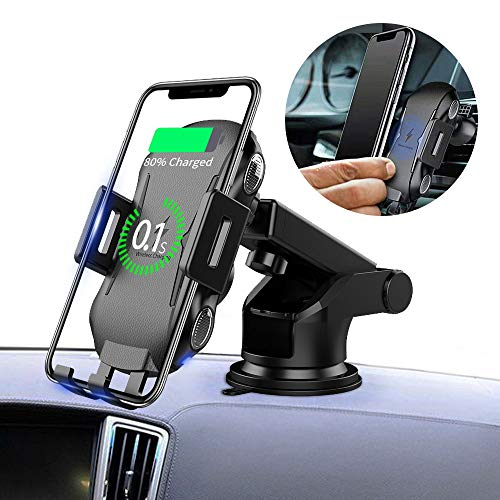 - MOUNTDOG Wireless Car Charger Mount, Auto-Clamping 7.5W / 10W Fast Cell Phone Charger Holder Compatible with iPhone 8/8 Plus/Xs/Xs Max/XR/X,Galaxy S8 / S9 / S9+ / S10 / S10 Plus/Note 9/8/7 More