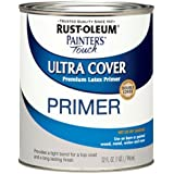 Rust-Oleum 1980502 Painters Touch Quart Latex, Flat Gray Primer