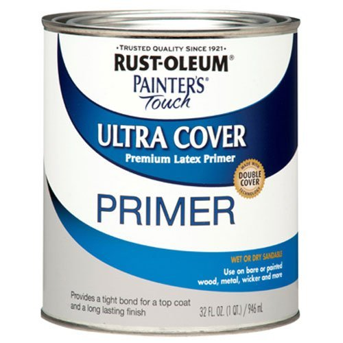 Wood Primer - Rust-Oleum 1980502 Painters Touch Quart Latex, Flat Gray Primer