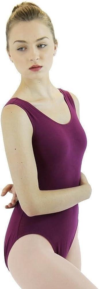 Danzcue Womens Cotton Tank Ballet Cut Leotard