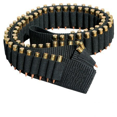 "Ultimate Arms Gear Tactical Stealth Black 180 Round Rifle Ammo Shot Shell Cartridge Hunting Shoulder Bandolier Bandoleer Carrier Holder 60"" Long Fits .223 223 5.56 556 Universal Bolt Lever Action Sniper Hunting Rifle"