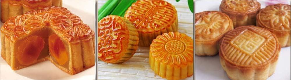 LEAMALLS 9 st/ück Mooncake form Mould manuelle Press Cookies mit Blumen Briefmarken Fondant Backzubeh/ör Back-Modellierwerkzeug Dekorations werkzeuge
