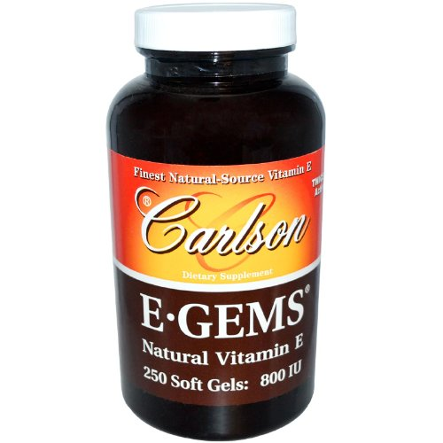 Carlson Labs E-Gems Natural Vitamin E, 800 IU, 250 Softgels by Carlson Laboratories