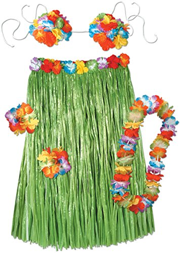 Luau Outfits For Adults (Beistle 50494 Adult Hula Set)