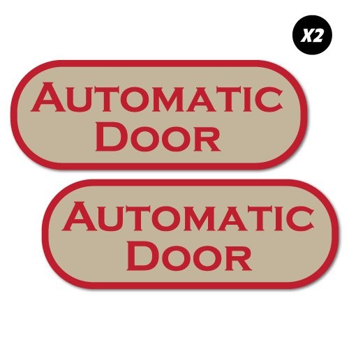 Horayten 4X Car Styling Decal Vehicle Window Body Caution Automatic Door GL8 Stickers 16x3.5cm A