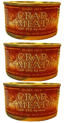 Trader Joe's Crab Meat with 15% Leg Meat (Pack of 3)