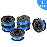 OFPOW Single Line String Trimmer Replacement Spool, 0.065'' Autofeed Replacement Spools for Greenworks,6 Pack