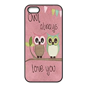 Owl you need is LOVE Inkjet Printing Printed Phone Plastic Hard Shell Case Cover For Apple Iphone 5 5S Cases TKOK757824