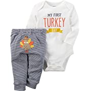 Carter's Baby My First Turkey 2-Piece Bodysuit Pants Set 3 Months