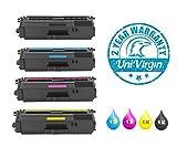 UniVirgin 4PK TN336 TN339 TN331 Toner Set Replacement for Brother TN336BK TN336C TN336Y TN336M Toner Cartridge for use in: Brother HL-L8250CDN, HL-L8350CDW, HL-L8350CDWT, MFC-L8600CDW, MFC-L8850CDW