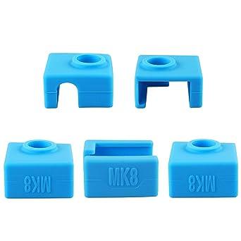 5 Piezas Impresora 3D Silicone Sock,cubierta de silicona para ...