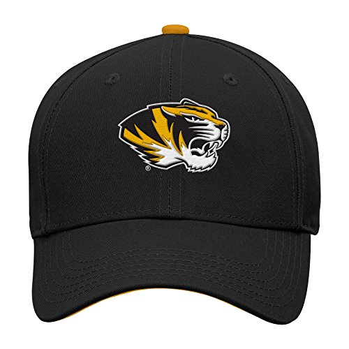 NCAA by Outerstuff NCAA Missouri Tigers Kids & Youth Boys Basic Structured Adjustable Hat, Black, Youth One Size
