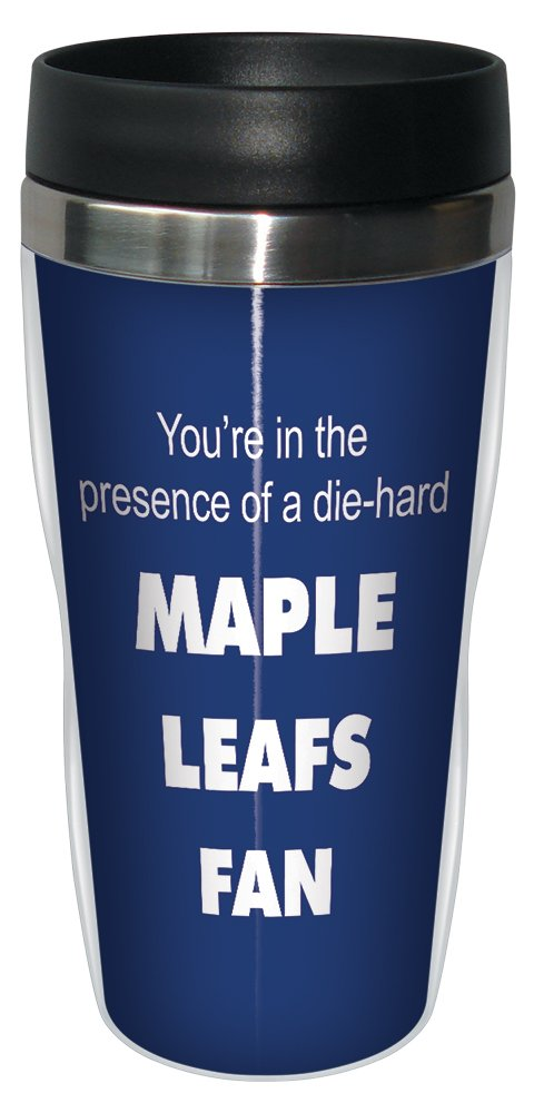 Tree-Free Greetings sg24196 Maple Leafs Hockey Fan Sip 'N Go Stainless Steel Lined Travel Tumbler, 16-Ounce Tree Free