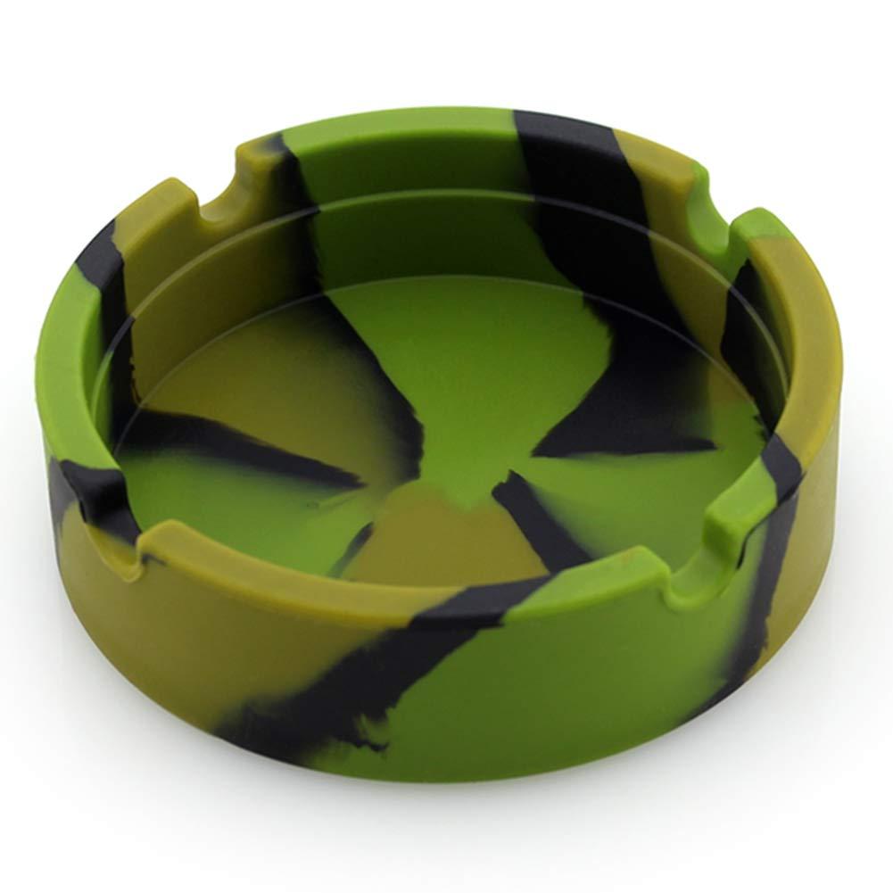 Ashtray Silicone Rubber Ashtray Soft Round Ecological Smoke Holder Batch Camouflage Luminous Fluorescent Ashtray Portable