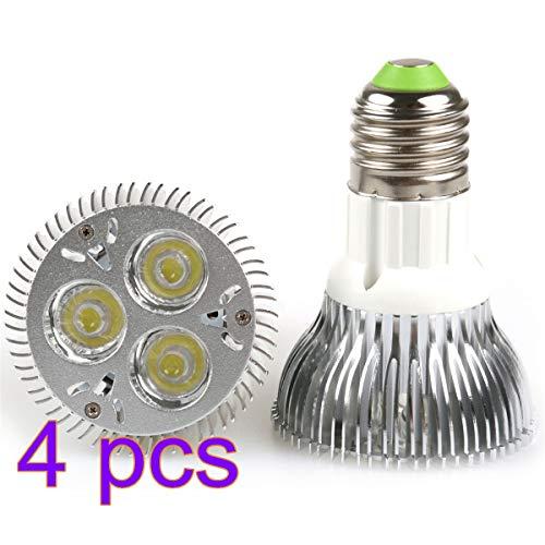 Lemonbest Energy Saving 9W PAR20 LED Bulb Spotlight Flood E27 Base Cool White 6000K 110V (4 Pack)