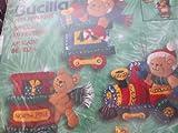 Bucilla ''Santa Bear with Toy Train'' Felt Applique Ornament Kit 84438