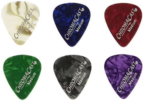 chromacast-pearl-celluloid-guitar-pick-48-pack-assorted-gauges