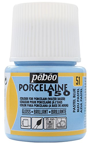 Pebeo Porcelaine 150, China Paint, 45 ml Bottle - Pastel Blue
