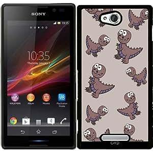 Funda para Sony Xperia C S39H - Sonriendo Dinosaurio by zorg