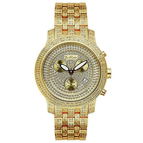 Joe Rodeo Diamond Men's Watch - CLASSIC gold 3.75 ctw