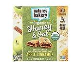 Natures Bakery Organic Honey & Oat Fig Bar, Apple Cinnamon, 6 Count (Pack of 1)