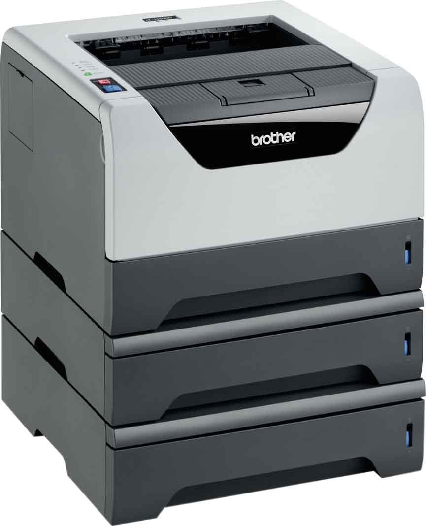 Brother HL-5350DN2LT Monochrome Laserdrucker (Duplex, 1200 x 1200 dpi, LAN/WLAN) schwarz HL5350DNLTG2BOM