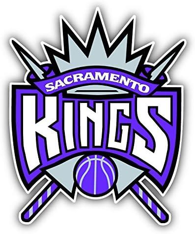 Sacramento City King Basketball Sport Team Logo Symbol Emblem Die-Cut Sticker Label Decal Set of 4 Pieces in 5 Longer Side Each