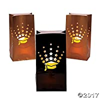 Fun Express Graduation Luminary Bags - 12 pc