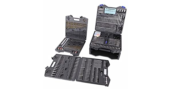new Sainty 400 pc Piece Combination Drill Bit Set with hard carrying case