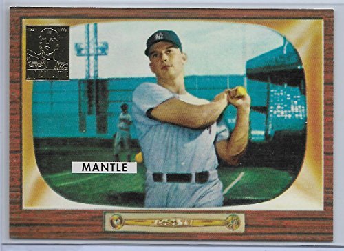 - 1996 Topps Baseball Mickey Mantle Chip Toppers 1955 Bowman Reprint Card # 5