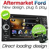 tunez Car DVD Player Stereo USB Head Unit Radio For Ford Focus Transit Connect Mondeo Kuga C-Max S-Max Galaxy Fiesta Fusion (230mm x 120mm, Width x Height)