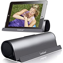Lugulake Aluminum Portable Bluetooth 4.0 Speaker with Stand Dock, HIFI, 2x 3Watts, Enhanced Bass, 10 Hours Playtime