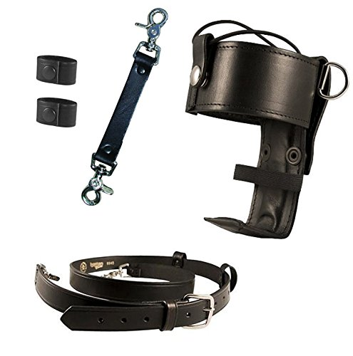 Boston Genuine Belt (Boston Leather Bundle Three Items- Anti-Sway Strap for Radio Strap, Firefighter's Radio Strap / Belt, Universal Firefighter's Radio)
