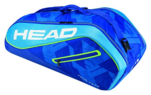 Tennis Head Balls Team - HEAD Tour Team 6R Combi Tennis Bag, Blue/Blue