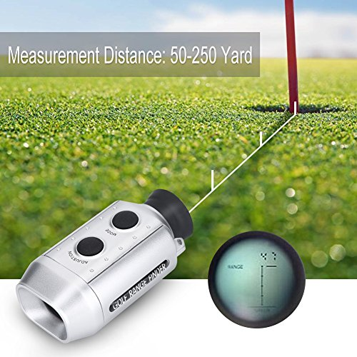 Golf Rangefinder, Handheld Golf Range Finder Hunting Telescope Distance Meter Tester by Dioche (Image #2)