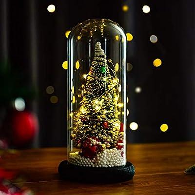Árbol de Navidad preiluminado cúpula de cristal transparente luces ...