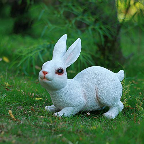 Danmu 1pc of Polyresin Rabbit Statue for Garden Home Decoration (Style 3)